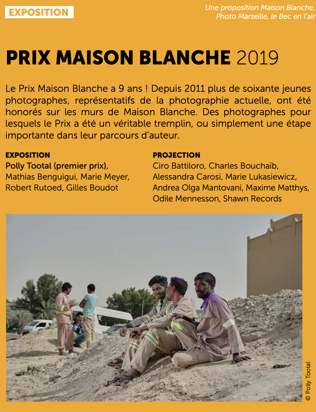 2019 - Premier Prix, Maison Blanche Award, Photo Marseille - Winner